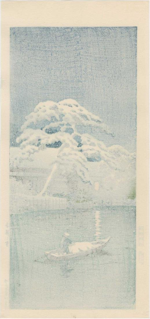 Hasui Kawase: Snow at Funabori - 2