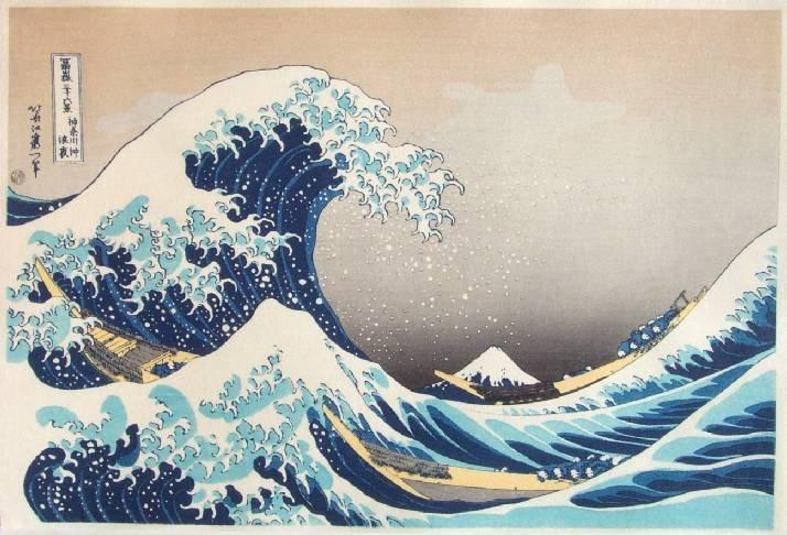 Katsushika Hokusai: Great Wave off Kanagawa+Bonus Print