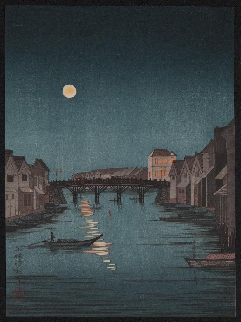 Kobayashi Kiyochika: Full Moon, Nihonbashi Bridge