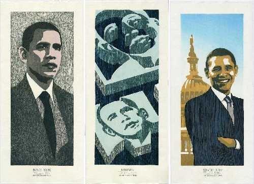 Tom Kristensen: 3 Prints of Barack Obama + Bonus Print