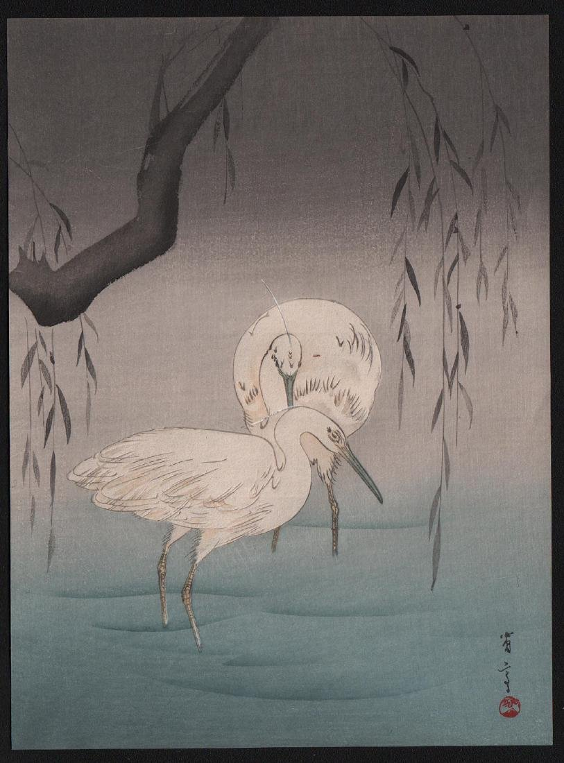 Watanabe Seitei: Egrets by Willow