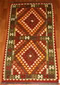 Tribal Kilim Wool Rug 3x6