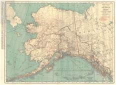 Rand McNally Indexed Pocket Map of Alaska, 1920