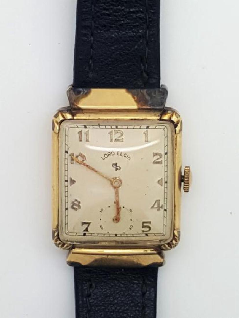 Vintage Lord Elgin 14K Gold Filled Men's Watch, 1930s