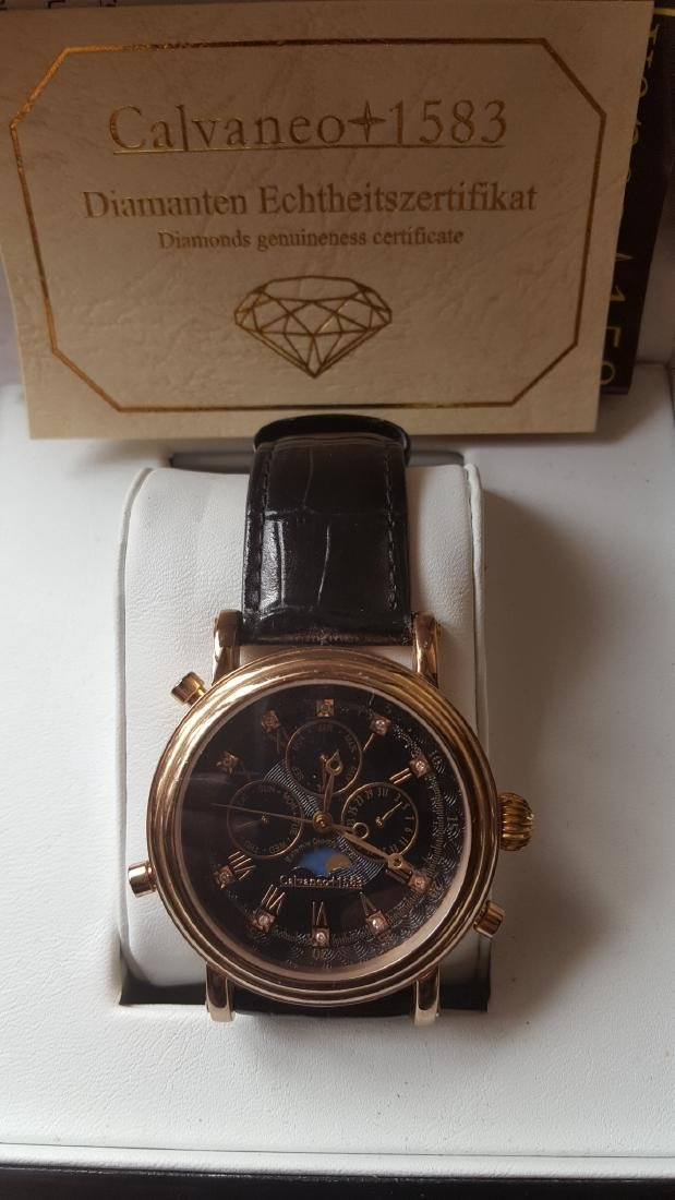 Calvaneo 1583 Rose Gold Watch