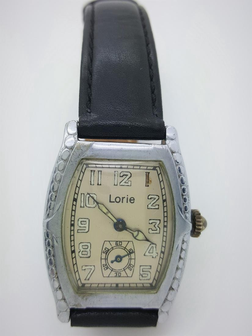 Vintage Art Deco Lorie Stainless Steel Men's Watch