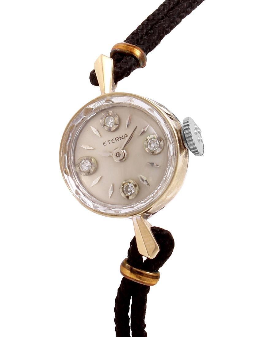 Eterna 14K White Gold Diamond Ladies Watch