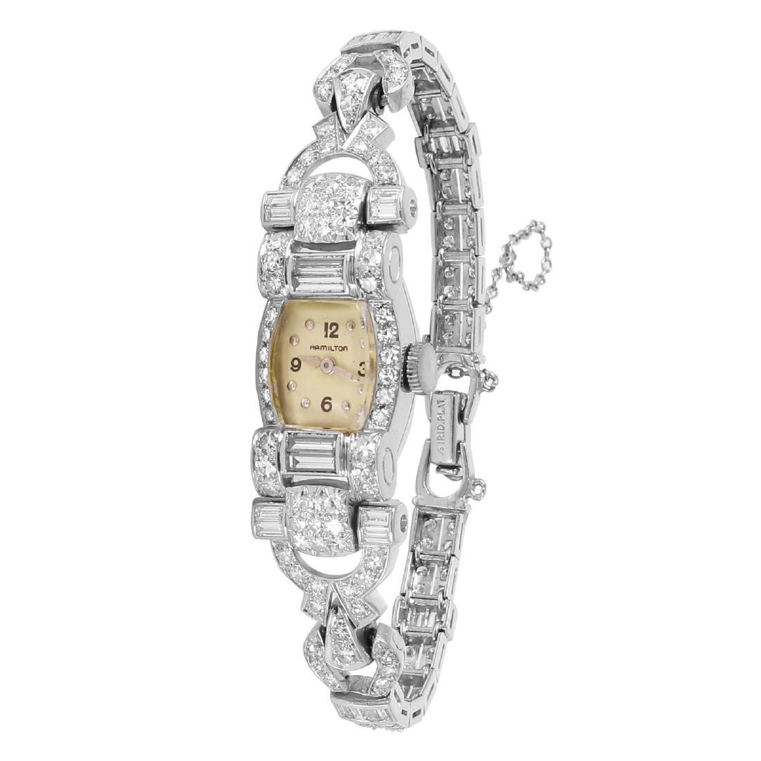 Hamilton Platinum Diamond Ladies Watch, 1930s