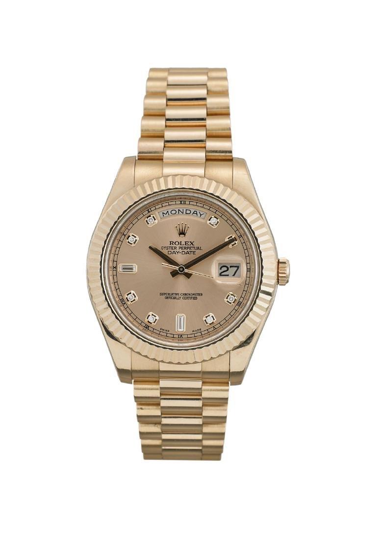 Rolex Day Date 18K Rose Gold Diamond Watch
