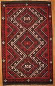 Turkmen Kilim Wool Rug 8x14