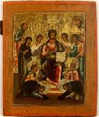 Deesis with Saints Russian Icon, 1800