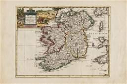Pieter van der Aa Map of Ireland 1713