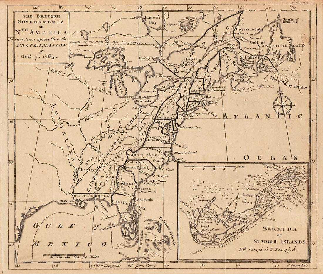 Map Of North America 1763.Gibson British Governments In North America 1763