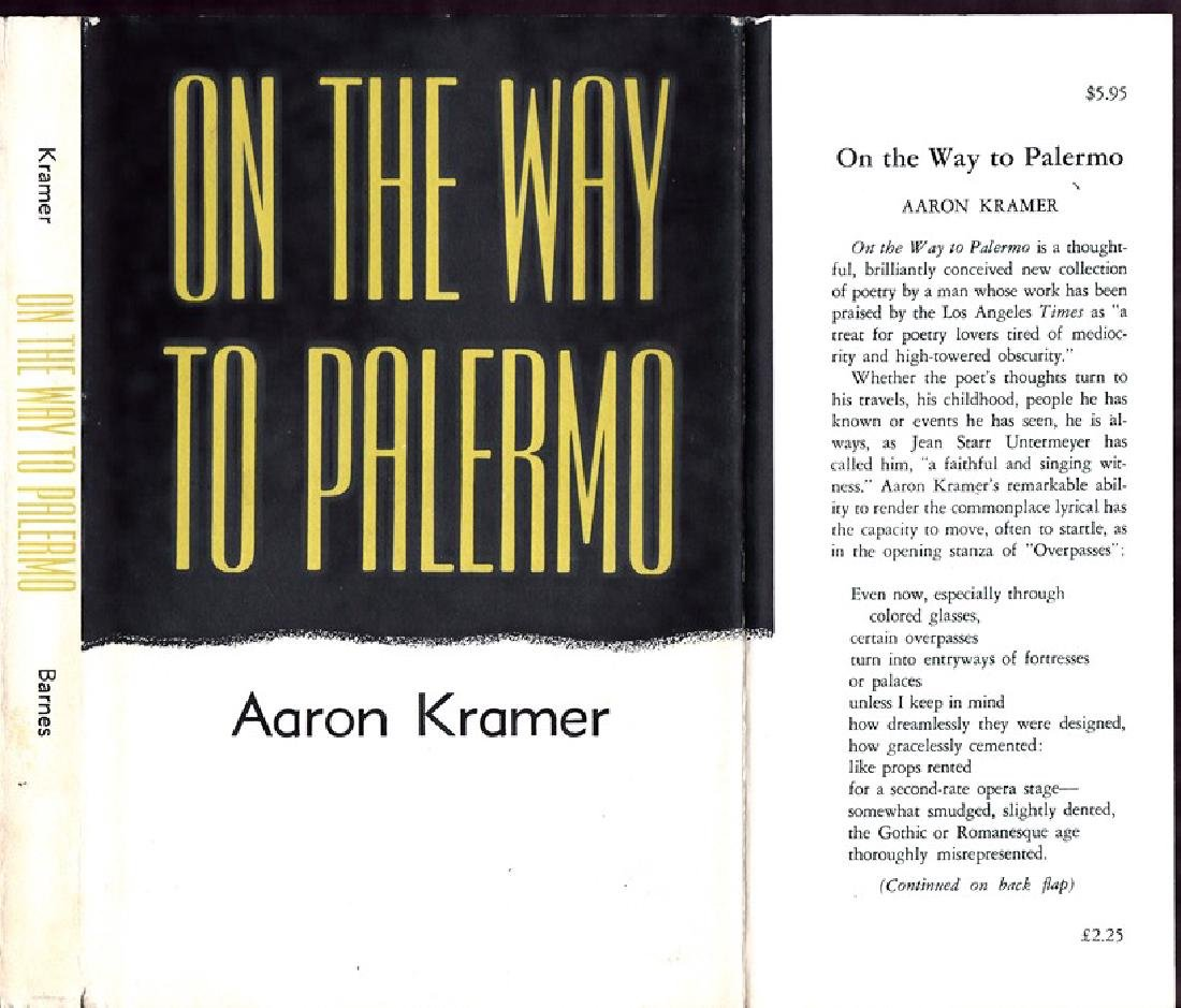 Aaron Kramer: On the Way to Palermo, 1973 - Signed