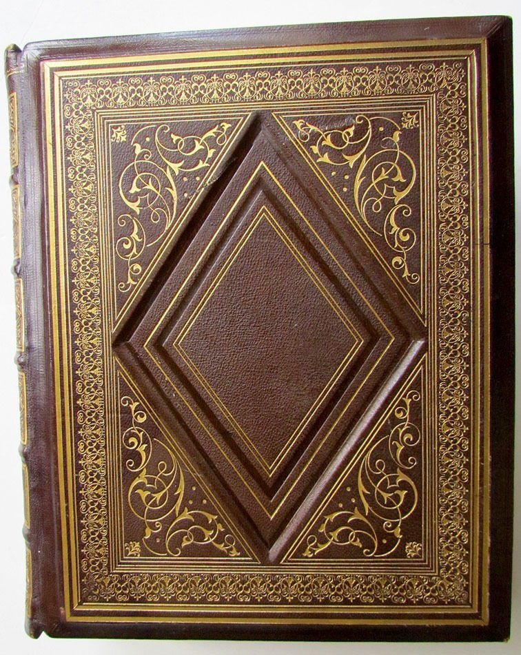 Antique Illustrated Holy Bible in Leather Folio, 1868