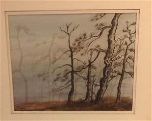 Trees Lithograph