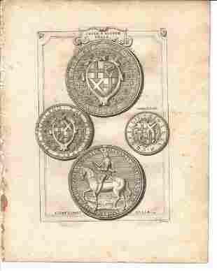 Vertue: Seals Ireland and Scotland, 1753