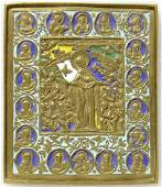 Our Lady of Joy, Deesis & Saints Russian Icon 19th C