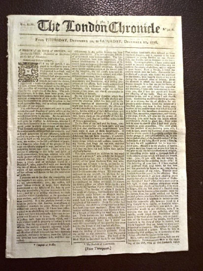 The London Chronicle Revolutionary War, 1778