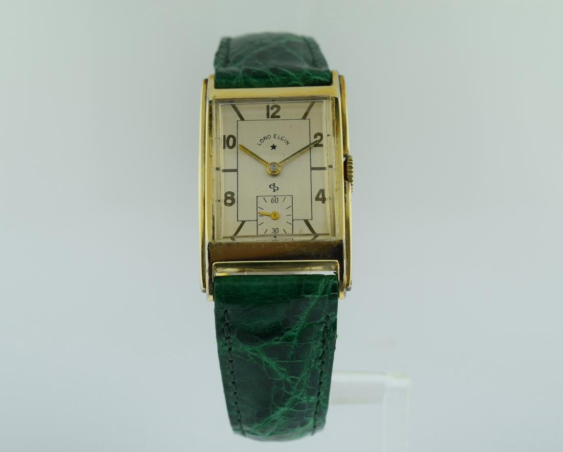 Lord Elgin Deco Gold Filled Watch, 1940s