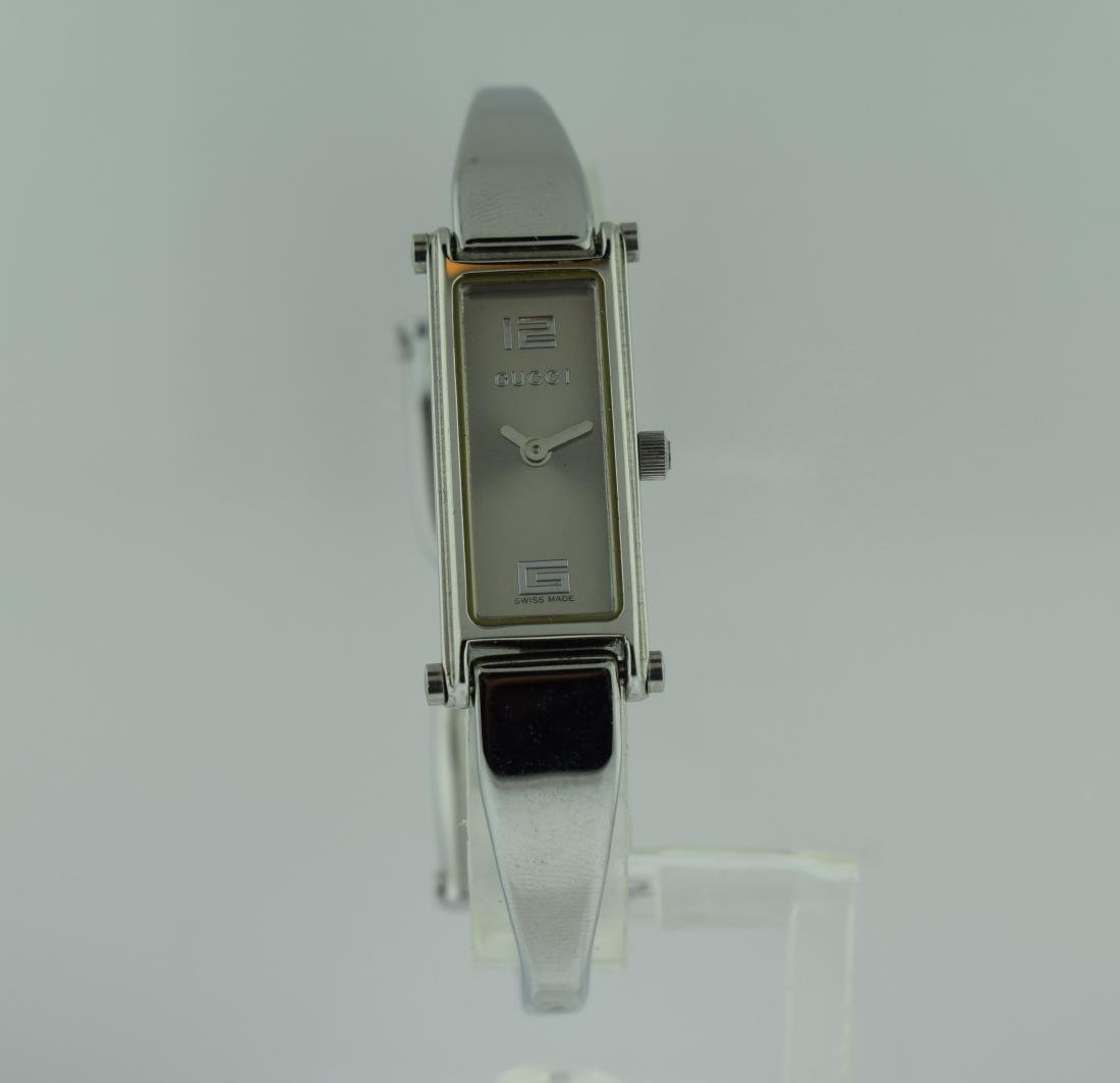 Ladies Gucci Stainless Steel Bangle Watch
