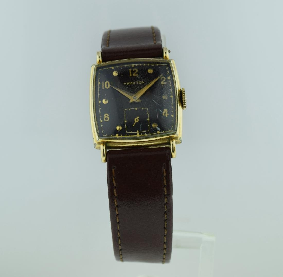 Hamilton Gold Filled Black Dial Watch, 1940