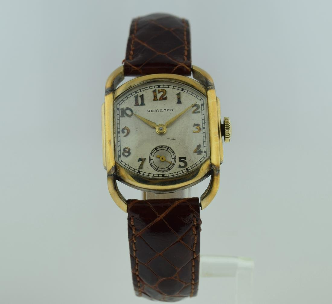 Hamilton Deco Gold Filled Curved Lug Watch, 1940