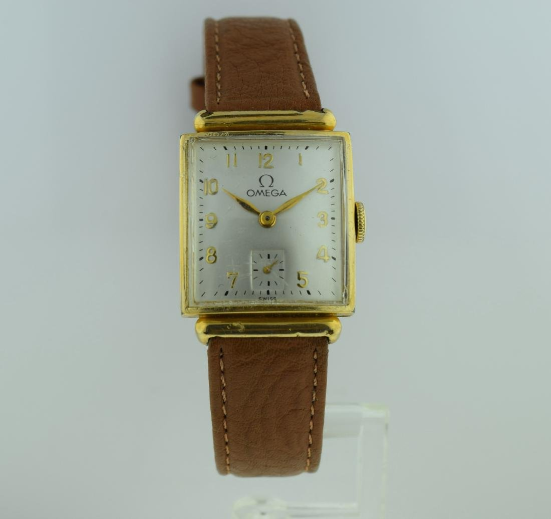 Omega Deco 14K Gold Filled Unusual Lugs Watch 1940
