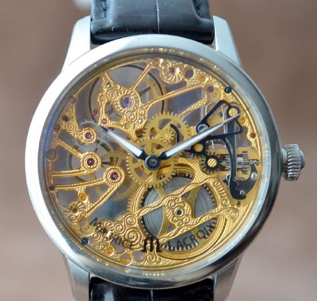 Maurice Lacroix Stainless Steel Skeleton Watch