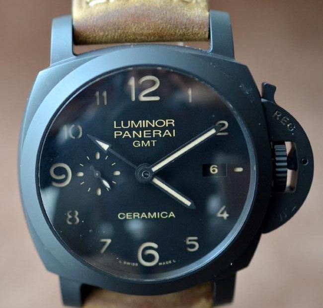 Panerai Ceramica GMT Matte Black Watch