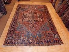 Antique Persian Heriz Rug 6.8x9.10