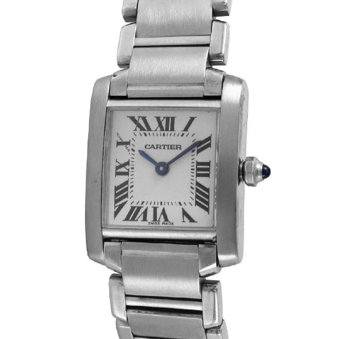 Cartier Tank Francaise SS Ladies Watch