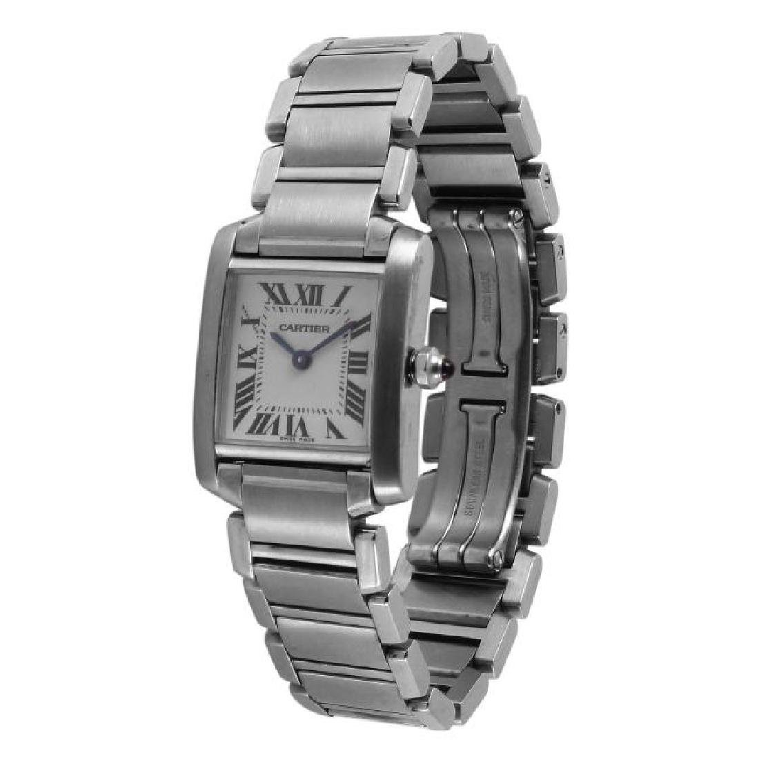Cartier Tank Francaise SS Ladies Watch - 2
