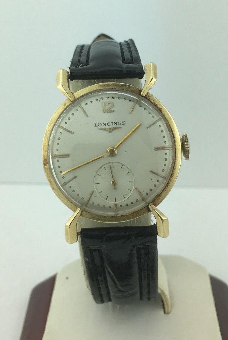 Vintage Longines 14K Yellow Gold Wind Up Watch