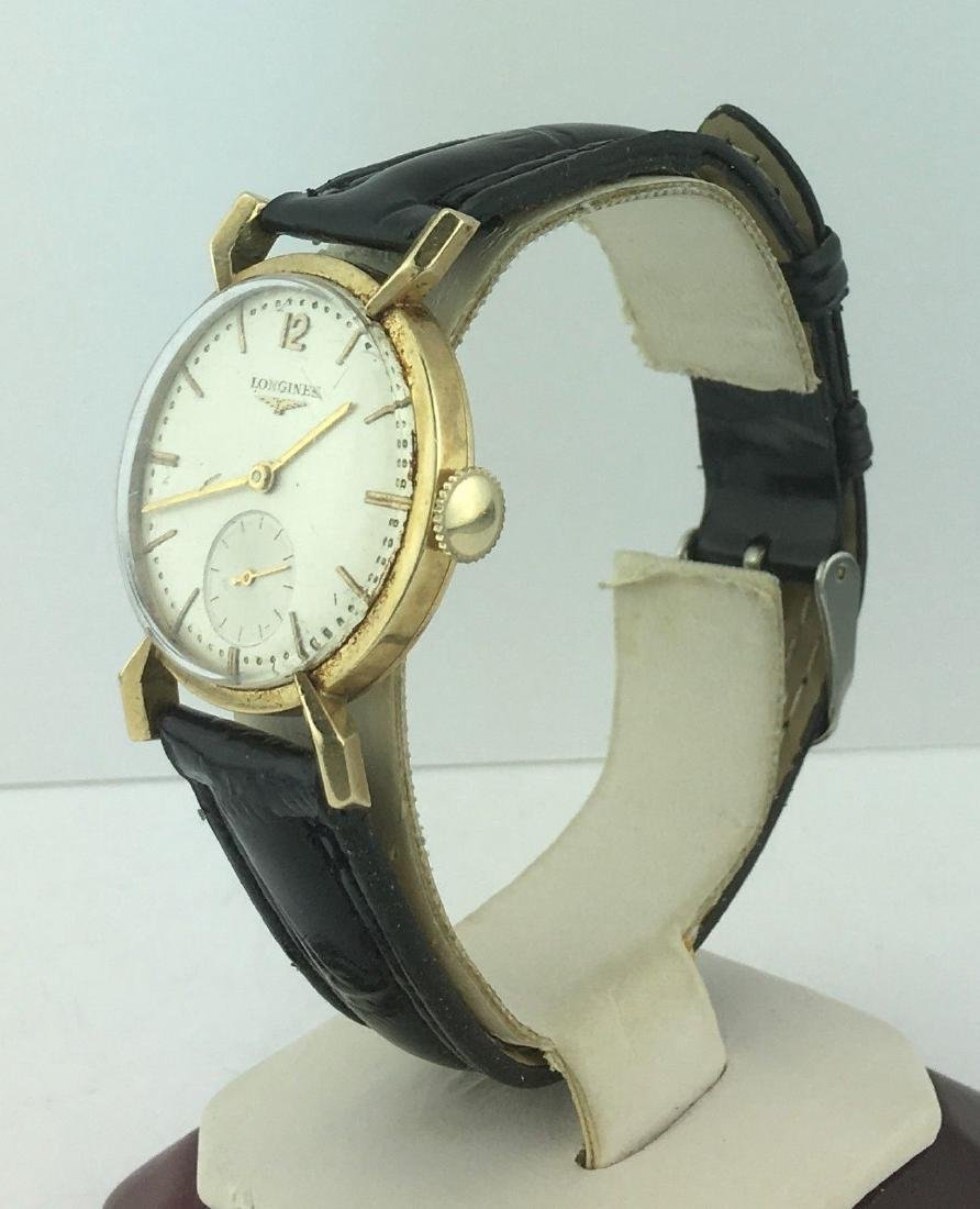 Vintage Longines 14K Yellow Gold Wind Up Watch - 3