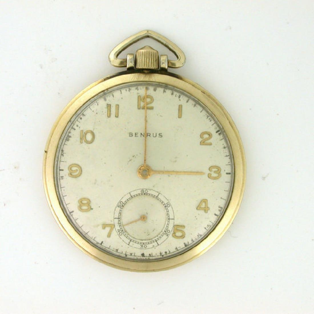 Vintage Benrus 10k Rolled Gold Pocket Watch, 1949