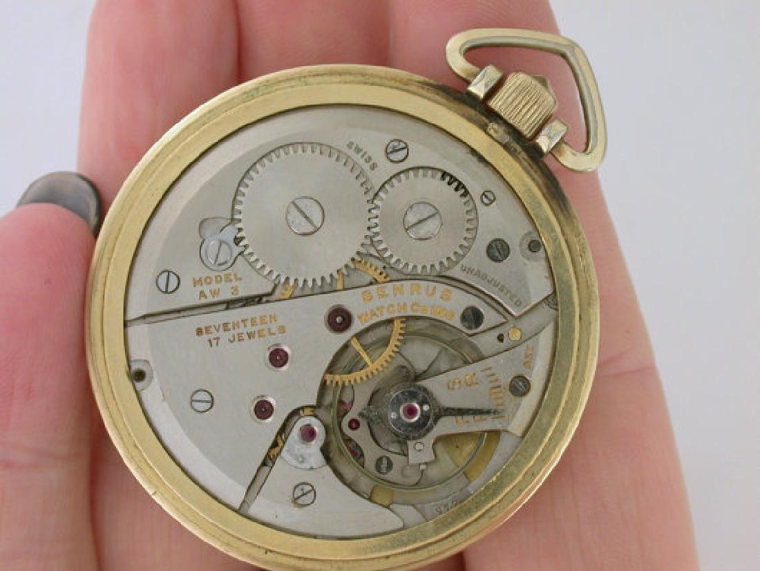 Vintage Benrus 10k Rolled Gold Pocket Watch, 1949 - 2