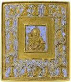 Our Lady with Three Hands, Deesis & Saints Metal Icon