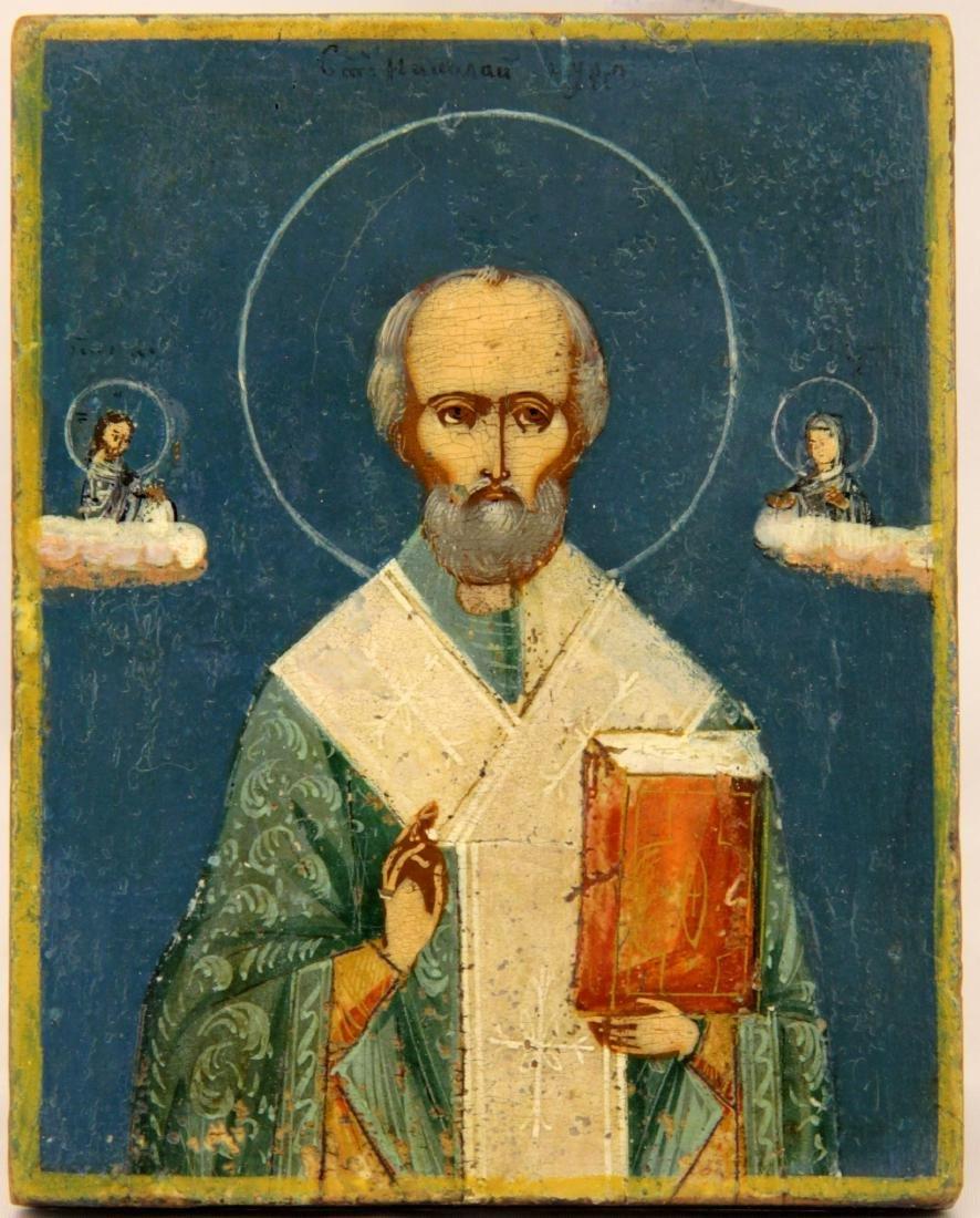 Saint Nicholas Russian Icon, 19th C