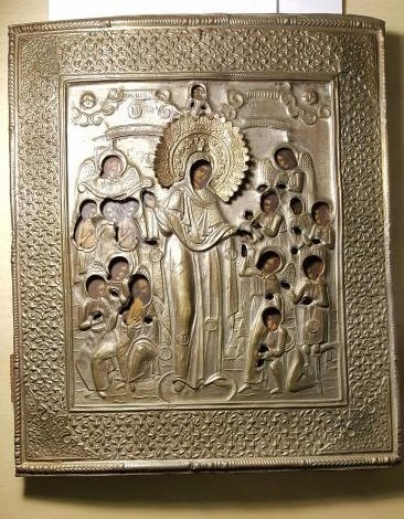 Mother of God Joy of All Who Sorrow Russian Icon 20th C