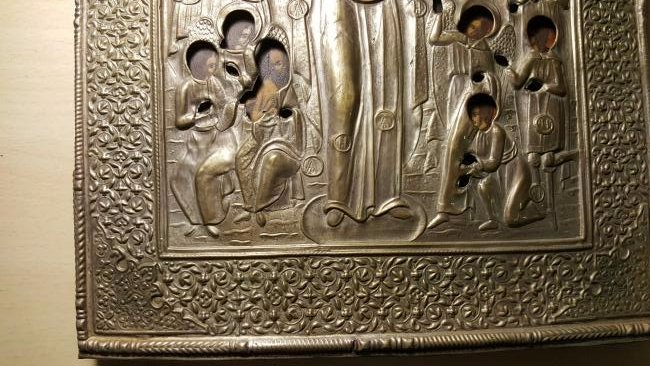 Mother of God Joy of All Who Sorrow Russian Icon 20th C - 3