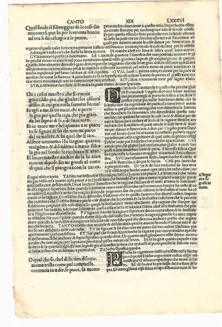 1507 Leaf from Dante Inferno
