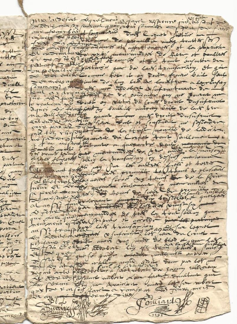 1606 French Manuscript Reign of Henry IV - 2
