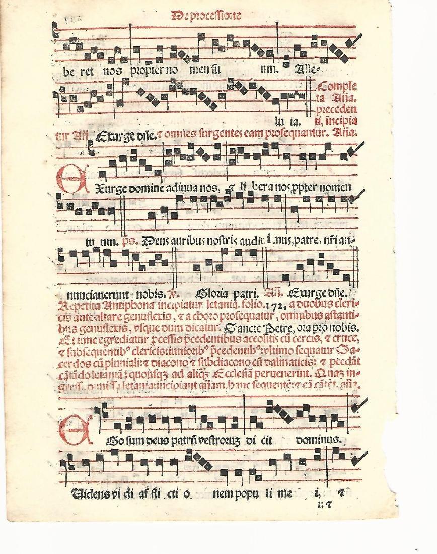 1567 Catholic Hymnal Leaf Red & Black Music - 2