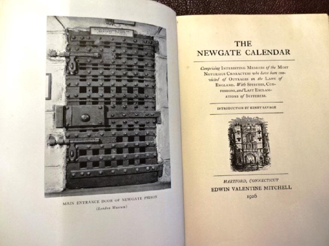 1926 The Newgate Calendar. Comprising Interesting