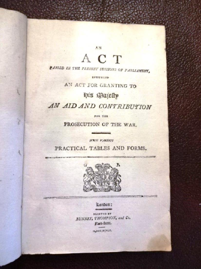 English Acts Granting His Majesty Aid For War