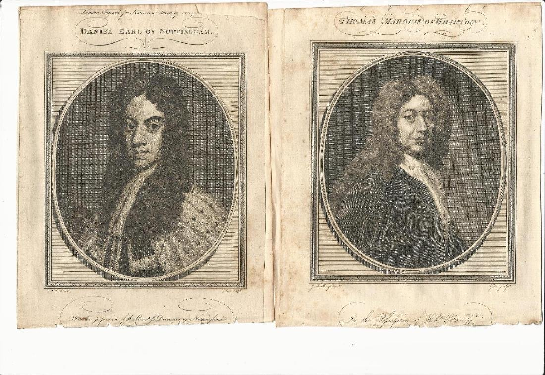 5 English Notables Engravings, 1786