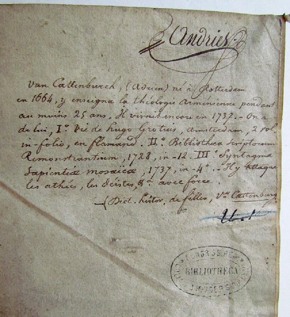 Sapientia Mosaica, 1742 - 3