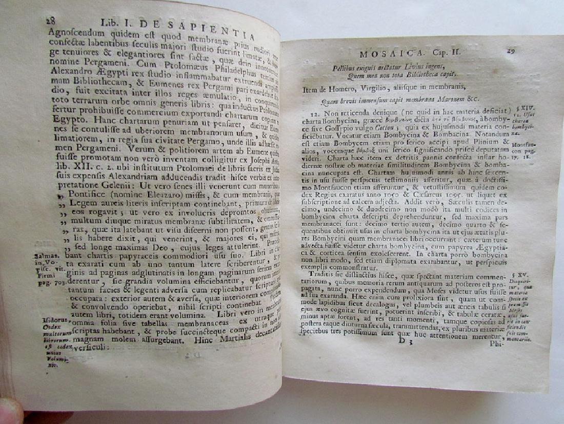 Sapientia Mosaica, 1742 - 5