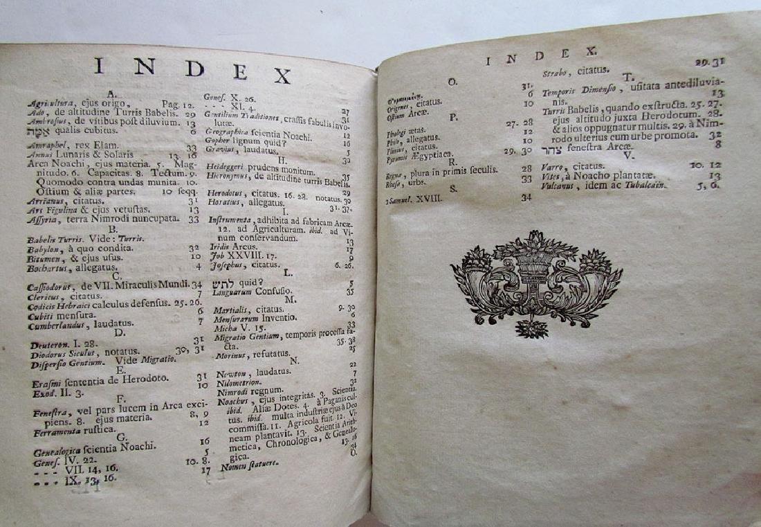 Sapientia Mosaica, 1742 - 7